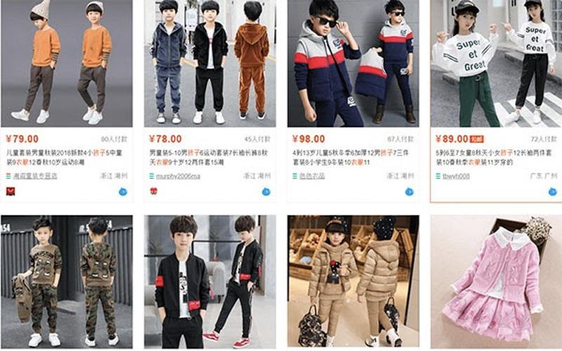 Quần áo trẻ em Quảng Châu rất đa dạng mẫu mã, phong cách